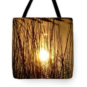Evening Sunset Over Water Tote Bag