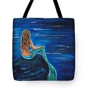 Evening Tide Mermaid Tote Bag