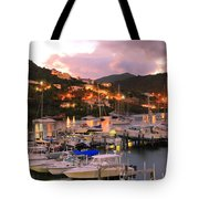 Evening Twilight At Oyster Pond, St. Martin Tote Bag