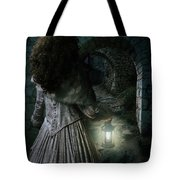 Evening Walk In Old Ruins Tote Bag