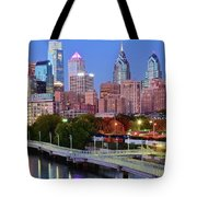 Evening Walk In Philly Tote Bag