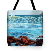 Evening Waves Tote Bag