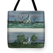 Evening Worship In Winter And Summer Tote Bag