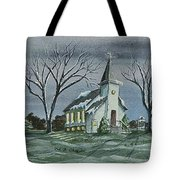 Evening Worship In Winter Tote Bag