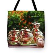 Event - Tea Garden Party Silver Sevice Tote Bag