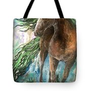 Ever Green  Earth Horse Tote Bag