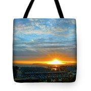 Everett Marina Sunset Tote Bag