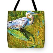 Everglades Blue Heron Tote Bag