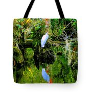 Everglades Egret Tote Bag