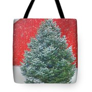Evergreen In Winter #1 Tote Bag