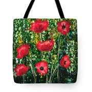 Every Dream Turns Up Poppies Tote Bag