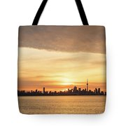 Every Morning Is Different - Toronto First Sunrays In Cyber Yellow  Tote Bag