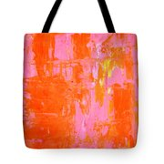 Everyone's Fav - Pink And Orange Abstract Art Painting Tote Bag