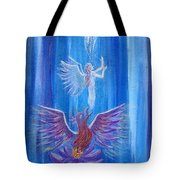 Everything In Due Time Tote Bag by The Art With A Heart By Charlotte Phillips