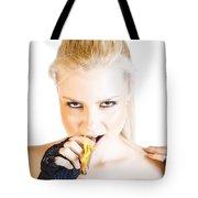 Evil Blonde Demon Tote Bag