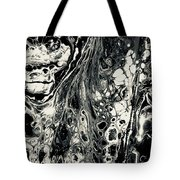 Evil In Black And White Tote Bag