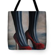 Evil Shoes Tote Bag by Jindra Noewi
