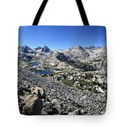 Evolution Lake And Valley Panorama From Darwin Bench - Sierra Tote Bag
