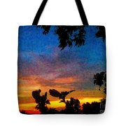 Exagerated Sunset Painting Tote Bag