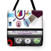 Excel Troubleshooting To Fix Corrupt/damaged Excel File Tote Bag