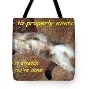Exercise 101 Tote Bag