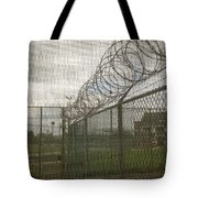 Exercise Yard Through Window In Prison Tote Bag