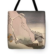 Exiled Buddhist Cleric Nichiren In The Snow Tote Bag