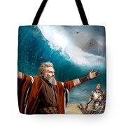 Exodus Moses And Pharaoh  Of Egypt Tote Bag