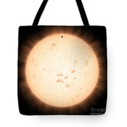 Exoplanet Hd 219134b In Front Of Star Tote Bag