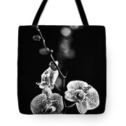 Exotic Orchid Bw Tote Bag