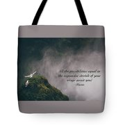 Expansive Stretch Of Your Wings Tote Bag