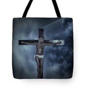 Experimental Crucifix In The Light Tote Bag