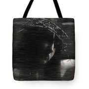 Experimental Portrait Of A Female Jesus Tote Bag
