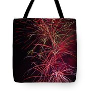 Exploding Festive Fireworks Tote Bag