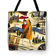 Explore London With A London Transport Explorer Pass - London Underground - Retro Travel Poster Tote Bag