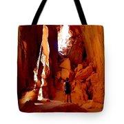 Exploring A Cave Tote Bag