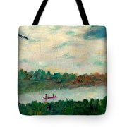 Exploring Our Lake Tote Bag