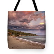 Explosion Of Colored Clouds Tote Bag