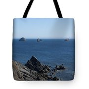 Exposed Offshore Rocks Tote Bag