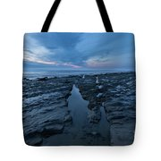 Exposed Rocks Only During Winter Tote Bag