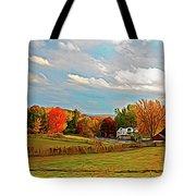 Expressionalism Autumn Farm Tote Bag