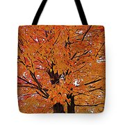 Expressionalism Golden Tree Tote Bag