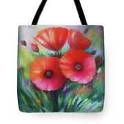 Expressionist Poppies Tote Bag