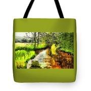 Expressionist Riverside Scene L A Tote Bag