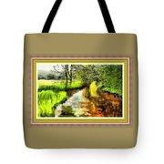 Expressionist Riverside Scene L B With Alt. Decorative Printed Frame.  Tote Bag