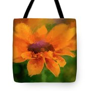 Expressive Sunflower Tote Bag