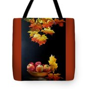 Expression Of Yellow Leaves. Tote Bag