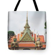 Exquisite Details On The Building Of Wat Arun In Bangkok, Thailand Tote Bag