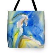 Extended Trot In Blue Tote Bag