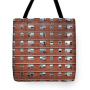 External Facade With Many Windows All Identical. Tote Bag